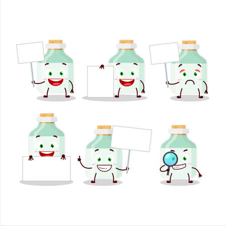 White baby milk bottle cartoon character bring information board