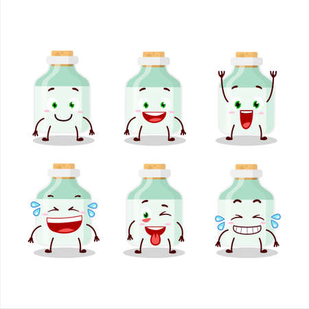 Cartoon character of white baby milk bottle with smile expression