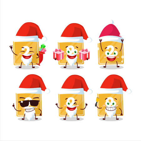 Santa Claus emoticons with toys block two cartoon character Ilustracja