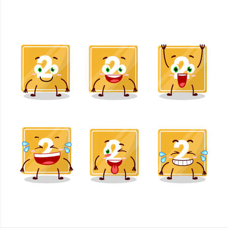 Cartoon character of toys block two with smile expression Ilustracja