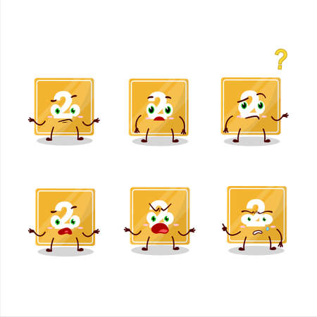 Cartoon character of toys block two with what expression Ilustracja