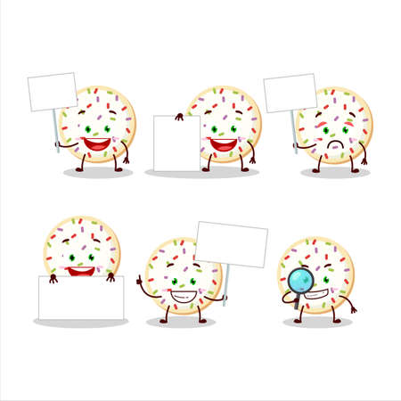 Sugar cookies cartoon character bring information board