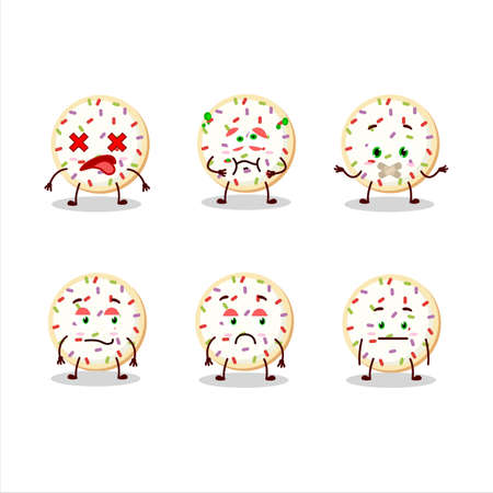 Sugar cookies cartoon character with nope expression Vectores
