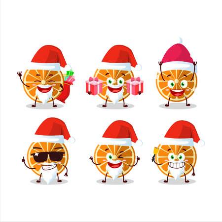 Santa Claus emoticons with new orange cartoon character