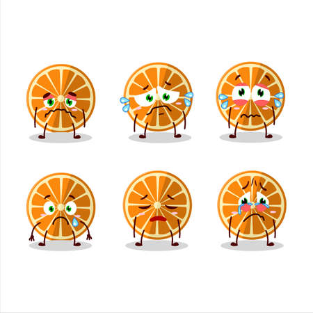 New orange cartoon character with sad expression