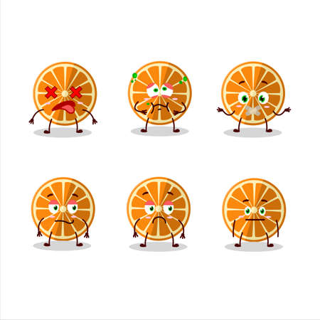 New orange cartoon character with nope expression