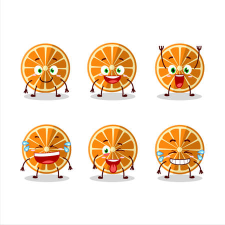 Cartoon character of new orange with smile expression