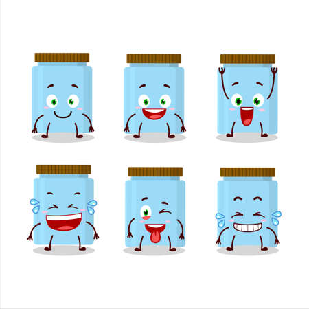 Cartoon character of jar with smile expression