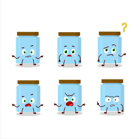 Cartoon character of jar with what expression 向量圖像