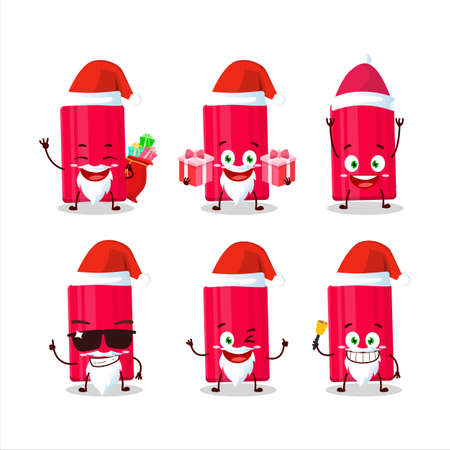 Santa Claus emoticons with ketchup bottle cartoon character 向量圖像