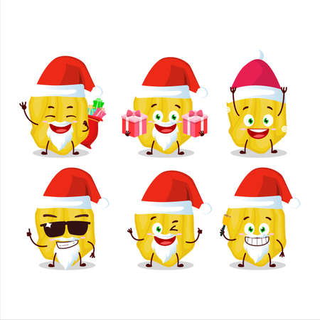 Santa Claus emoticons with yellow habanero cartoon character 矢量图像