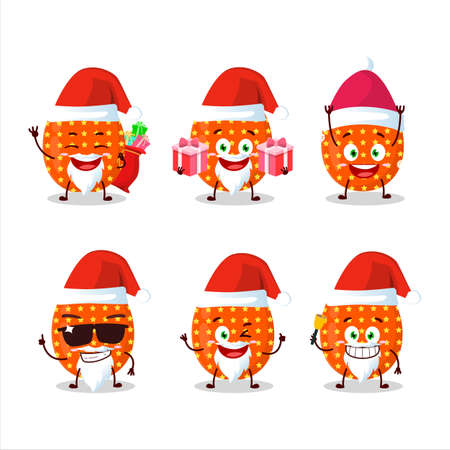 Santa Claus emoticons with deep orange easter egg cartoon character