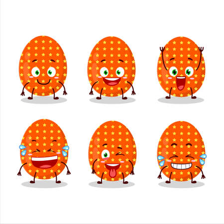 Cartoon character of deep orange easter egg with smile expression