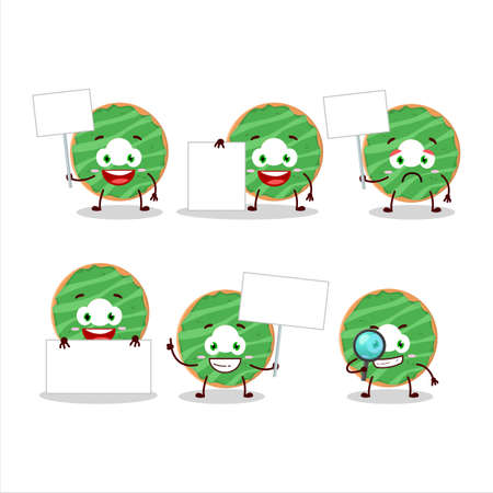 Cocopandan donut cartoon character bring information board Ilustrace