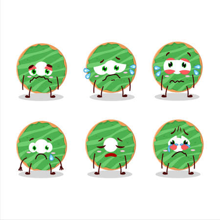 Cocopandan donut cartoon character with sad expression