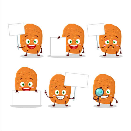Chicken nugget cartoon character bring information board