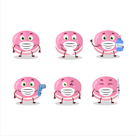 A picture of strawberry dorayaki cartoon design style keep staying healthy during a pandemic