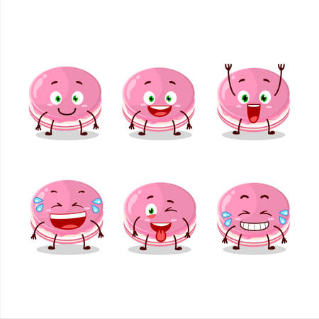 Cartoon character of strawberry dorayaki with smile expression