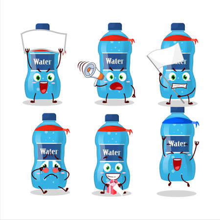 Mascot design style of water bottle character as an attractive supporter Ilustracja