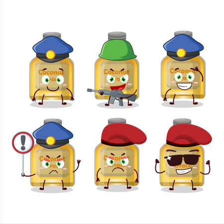 A dedicated Police officer of coconut arrack mascot design style