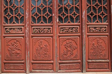 puertas de madera: Puertas de madera de estilo chino
