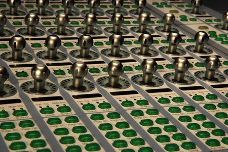 audio mixing console Stock Photo - 3590982