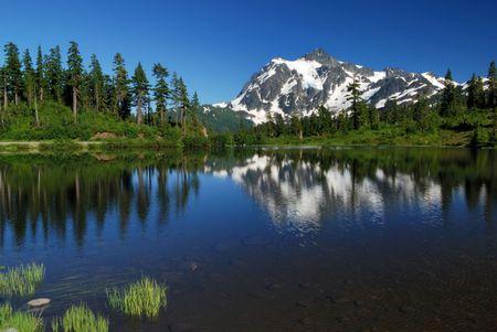 画像を湖と山 shuksan