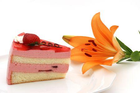 Aardbei taart Stockfoto