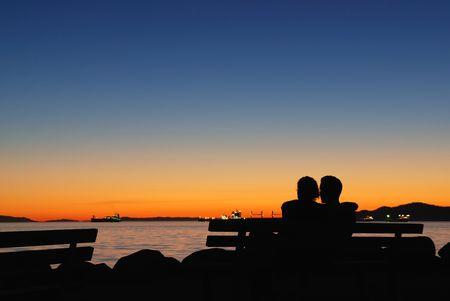 sunset at english bay, vancouver