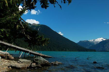 provincial: cheakamus lake, garibaldi provincial park Stock Photo