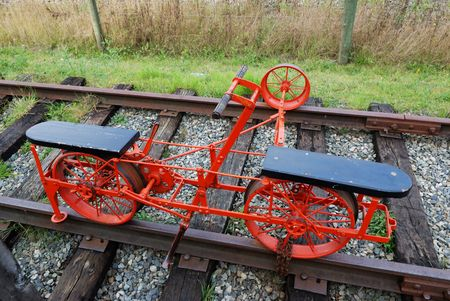 velocipede: antique railroad velocipede