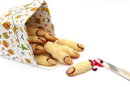 witches finger cookies for Stock Photo - 3407294