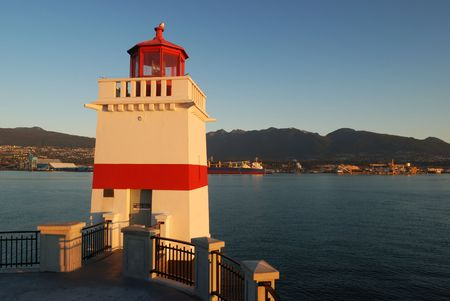 stanley: brockton lighthouse, stanley park, vancouver Stock Photo