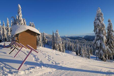 seymour mountain winter scene Stock Photo - 3407636