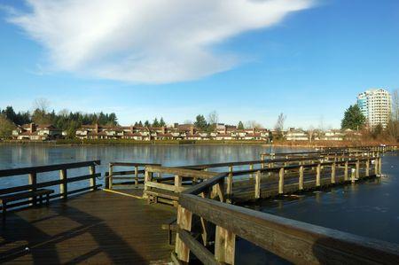 floating bridge: floating bridge