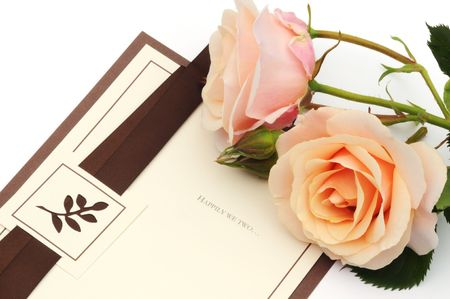 pink rose and card photo