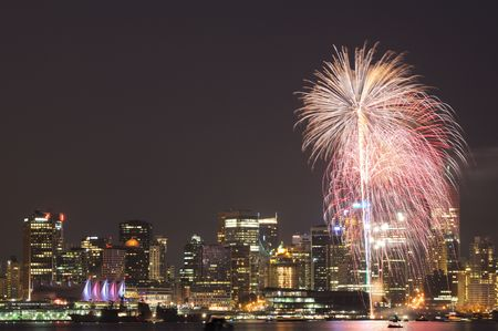 fireworks in downtown vancouver photo