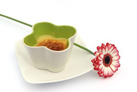 gerber daisy and dessert