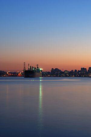 harbor sunset photo