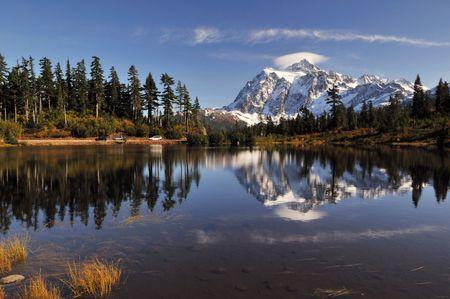 picture lake and mount shuksan photo