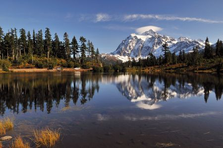 picture lake and mount shuksan photo
