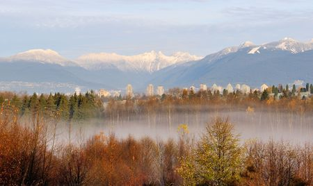 The lions mountain viewed from Burnaby  photo