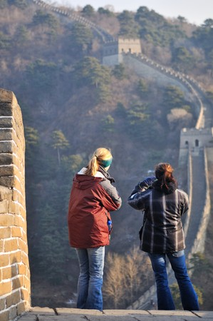 The Great Wall at mutianyu near Beijing Banque d'images