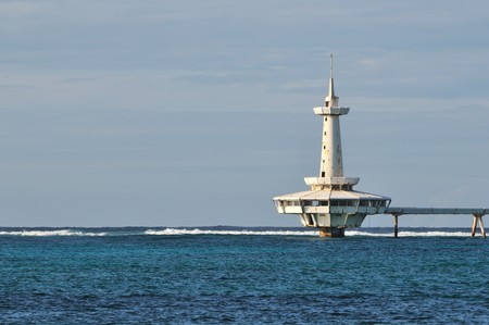 cay: Crystal Cay lighthouse, Nassau, Bahamas