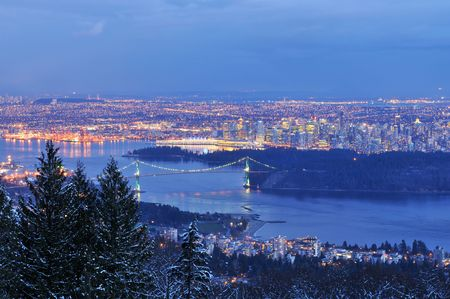 port stanley: downtown vancouver viewed from cypress mountain