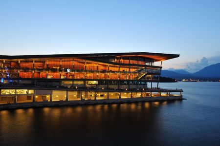 Vancouver conference centre at Canada place 版權商用圖片