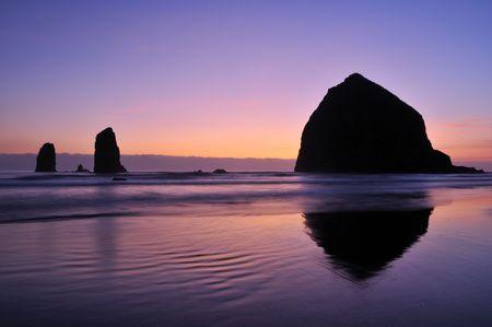 Cannon Beach Sunset Foto de archivo - 5386740