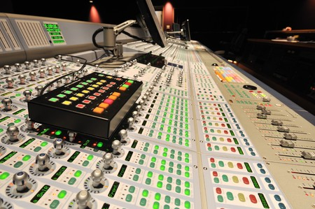 control box: audio post production mixing console with control box