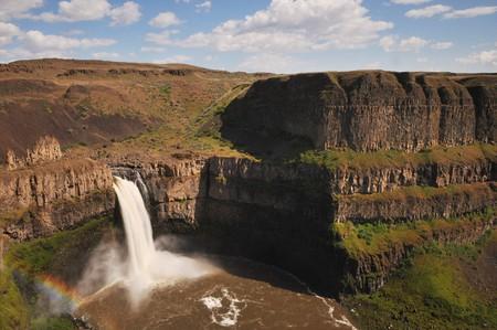 palouse: The Palouse Falls lies on the Palouse River in Washington State Stock Photo