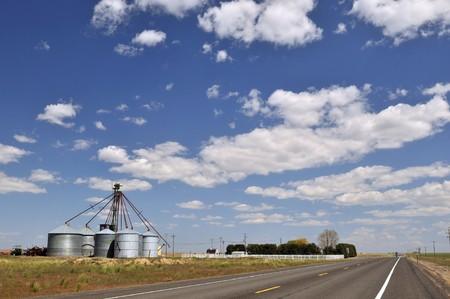 colfax: Grain Silos by the road near Colfax, Washington State
